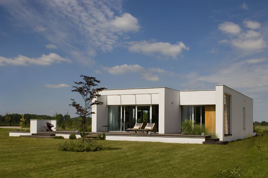 Dom w bieli