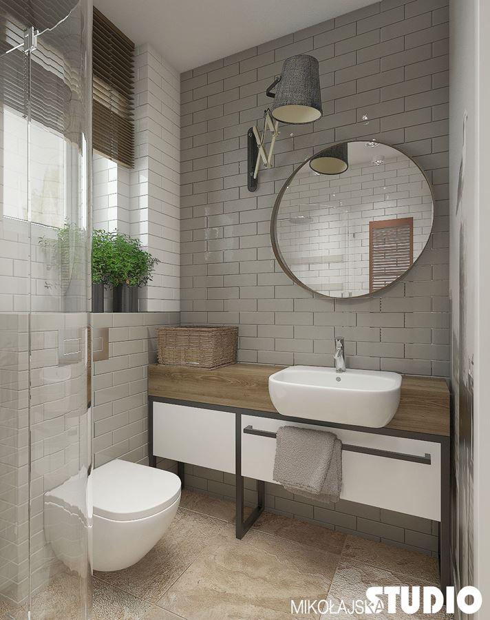 Szara łazienka Z Prysznicem Inspiracja Homesquare