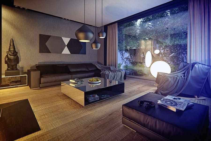 Szklana Sciana W Salonie Inspiracja Homesquare