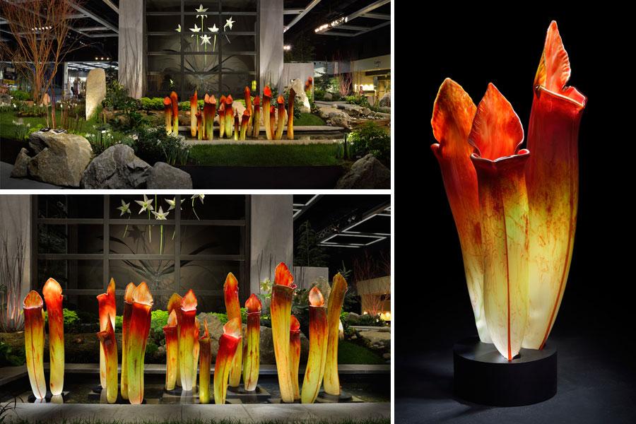 Szklane rzeźby