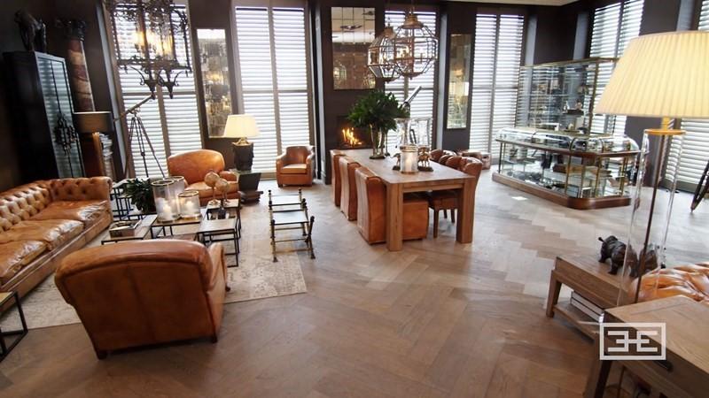 Wnętrza w stylu kolonialnym duży salon