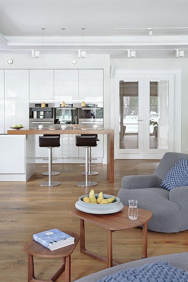Otwarta Kuchnia Na Salon I Jadalni Z Dekoracyjnymi   -> Kuchnia Otwarta Na Salon Biala