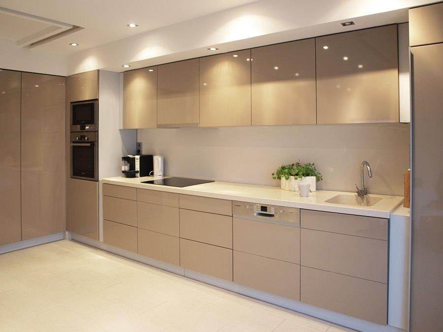 Beżowa kuchnia  Architektura, wnętrza, technologia   -> Szara Kuchnia Jaki Kolor Ścian