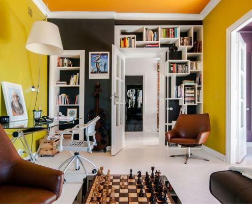 Salon w eklektycznym stylu