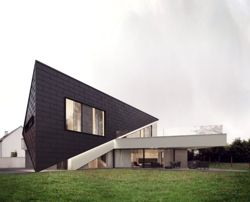 Geometryczna konstrukcja domu