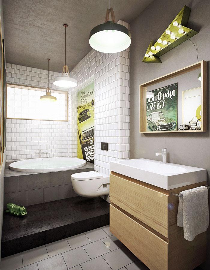 bathroom subway tile designs - 664×768