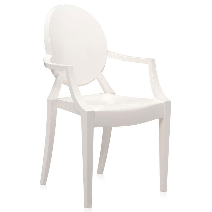 Louis Ghost chair heavy white