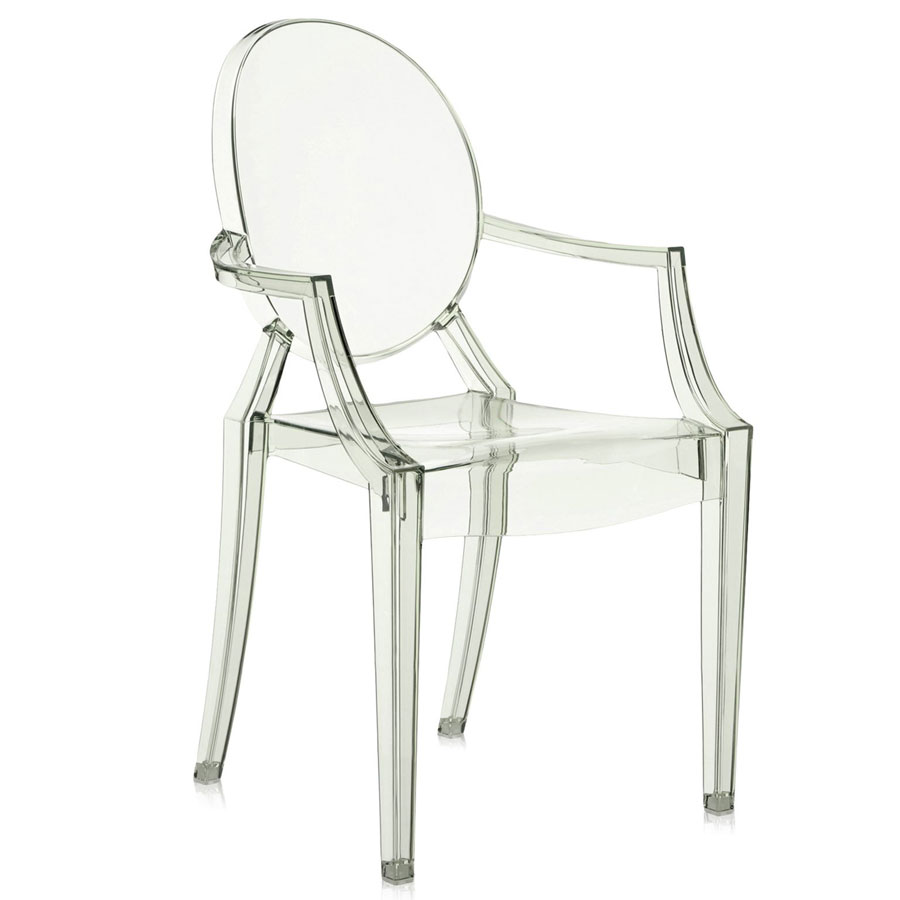 Louis Ghost chair transparent green