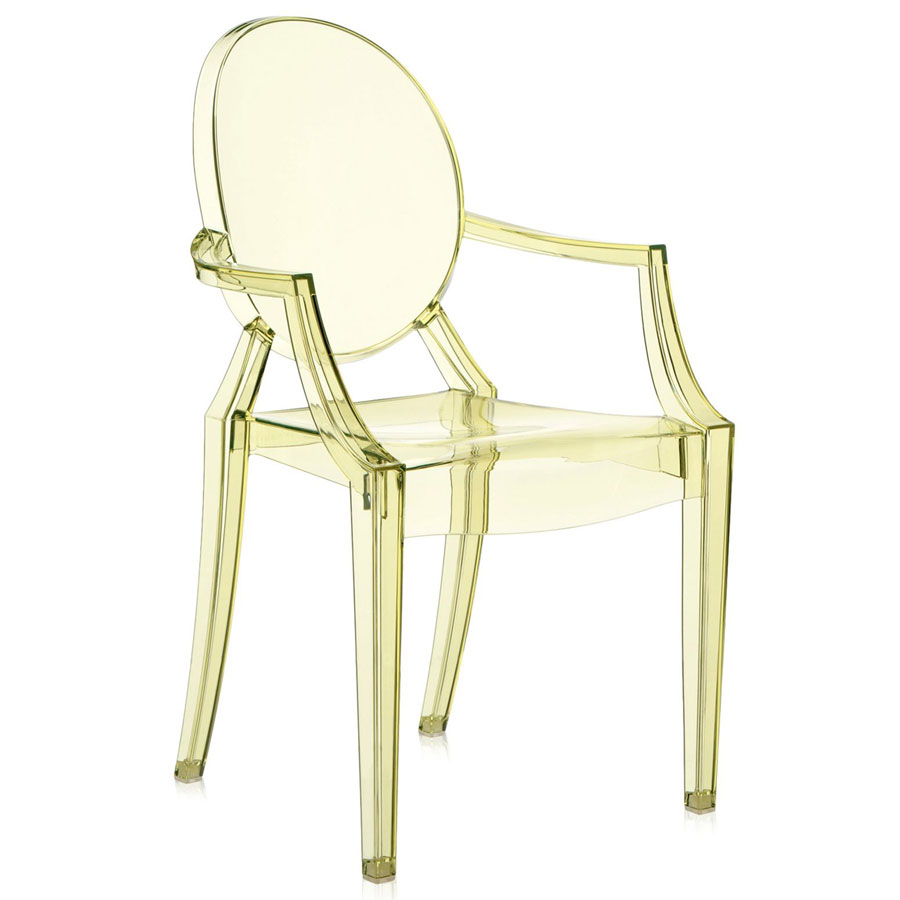 Louis Ghost chair yellow