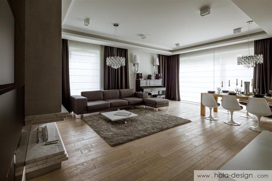Wn Trze Salonu W Nowoczesnym Stylu Architektura Wn Trza Technologia Design Homesquare