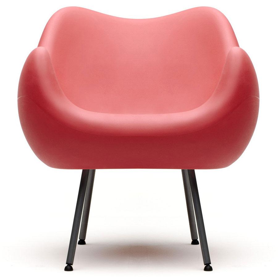 Fotel RM58 mat czerwony