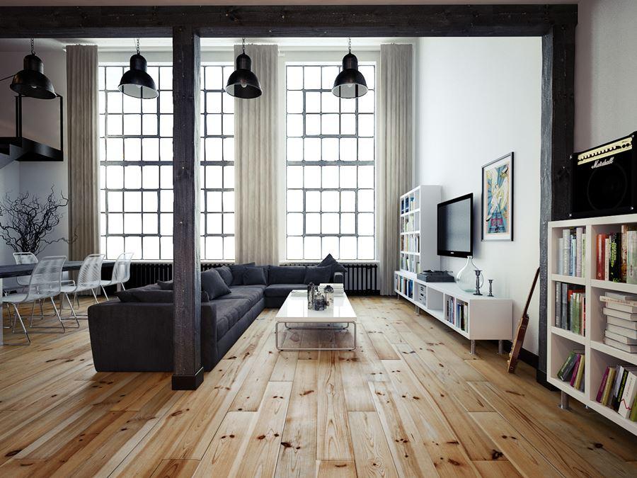 Duża czarna sofa