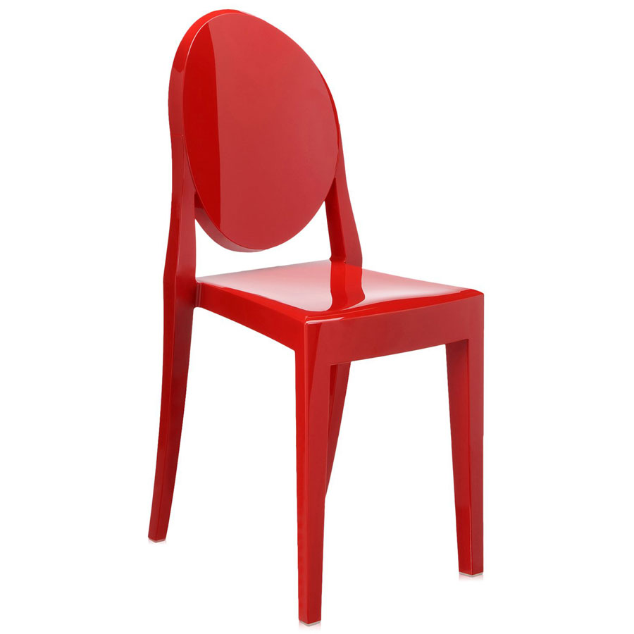 Victoria Ghost chair heavy red