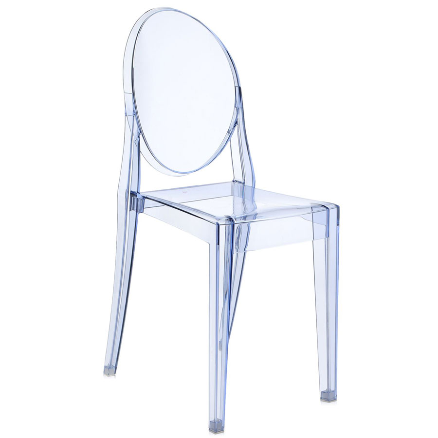 Victoria Ghost chair transparent blue