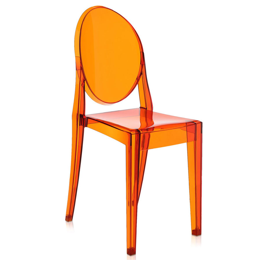 Victoria Ghost chair transparent orange