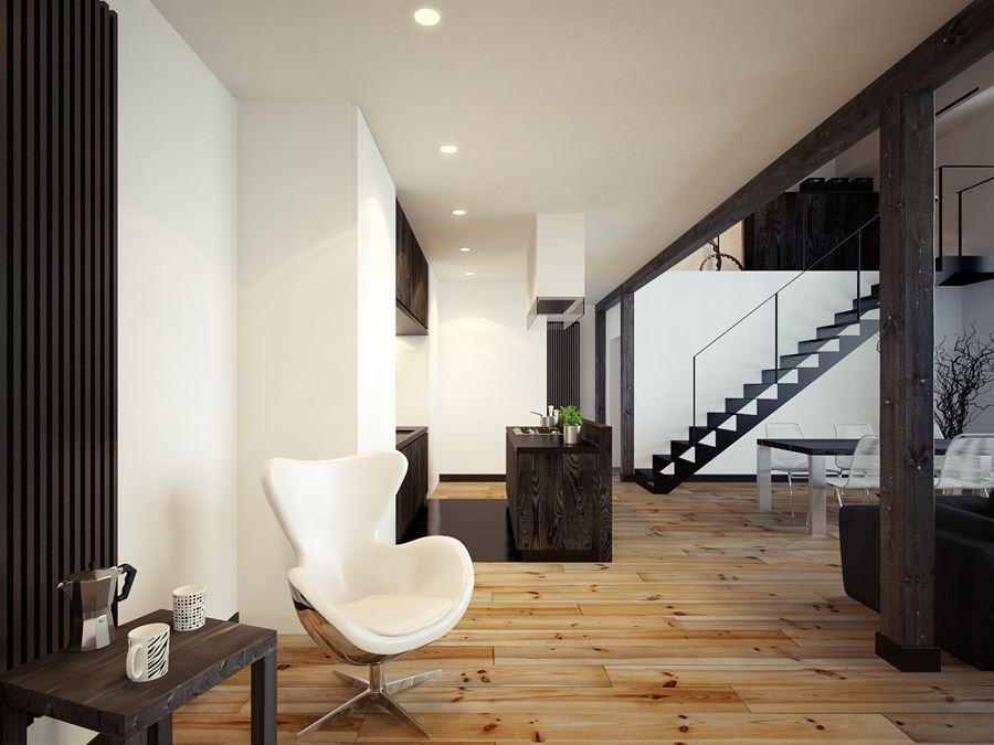 Podłoga z drewna sosnowego