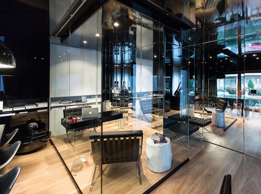 Nowoczesne Biuro W Czerni I Szkle Architektura Wnętrza