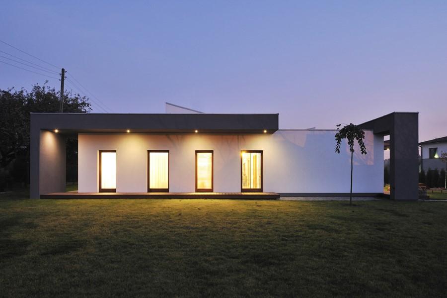Dom parterowy w nowoczesnym stylu