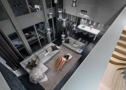 Aranżacja dużago salonu połączonego z jadalnią Luksusowe wnętrza - luksusowe wnętrza Robert Kolenik