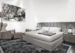 Biało-szara sypialnia