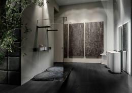 Nowoczesna łazienka z podwójnym prysznicem