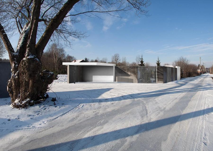 Betonowe ogrodzenie działki