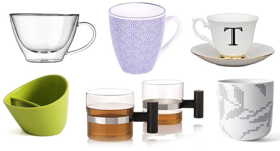 Imbryk i kubki do herbaty