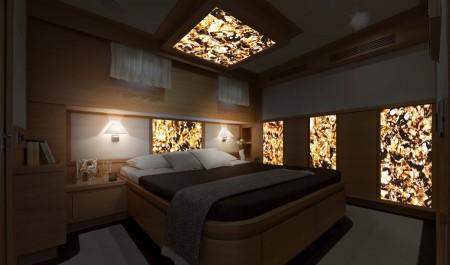 Sypialnia w brązie i drewnie