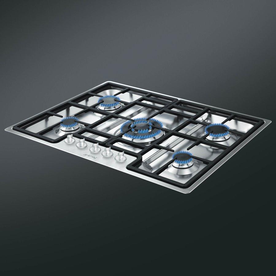 Płyta gazowa 72 cm PGF75 4 CLASSICA SMEG  Architektura, wnętrza, technologia   -> Kuchnia Gazowa Smeg