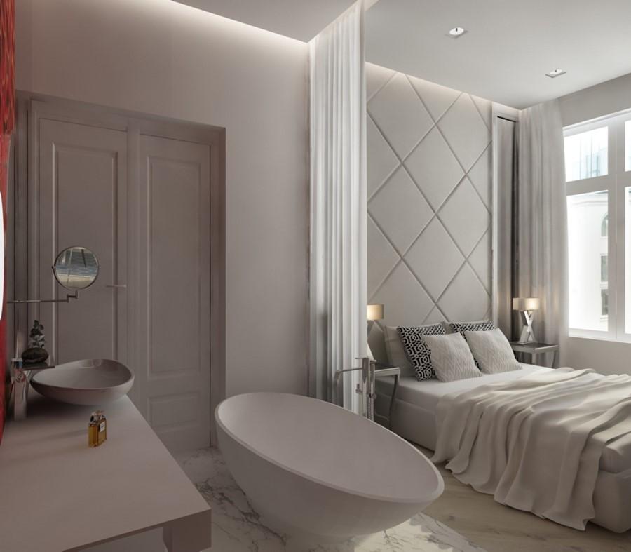 Pikowanie na ścianie w sypialni