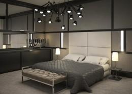 Aranżacja ciemnej sypialni w nowoczesnym stylu