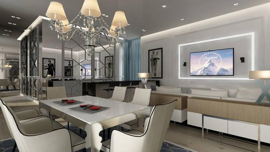 Białe meble do jadalnie w nowoczesnym stylu