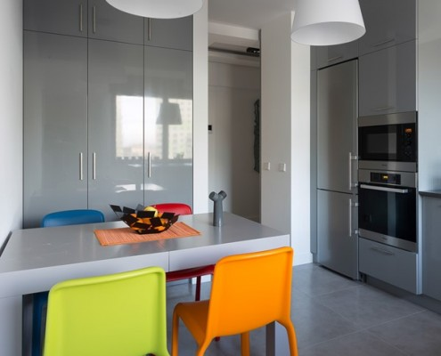 Kolorowe krzesła do kuchni i jadalni