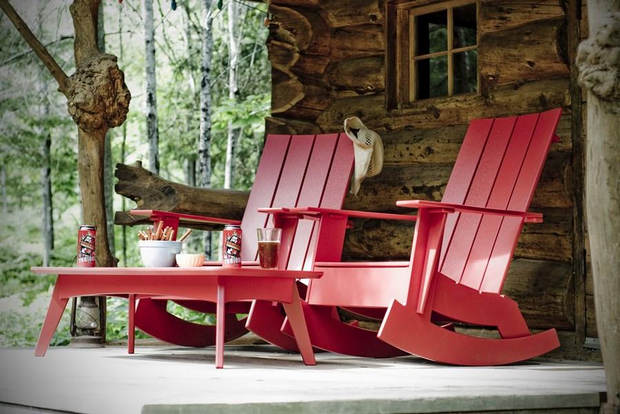 Drewniane siedzisko ogrodowe