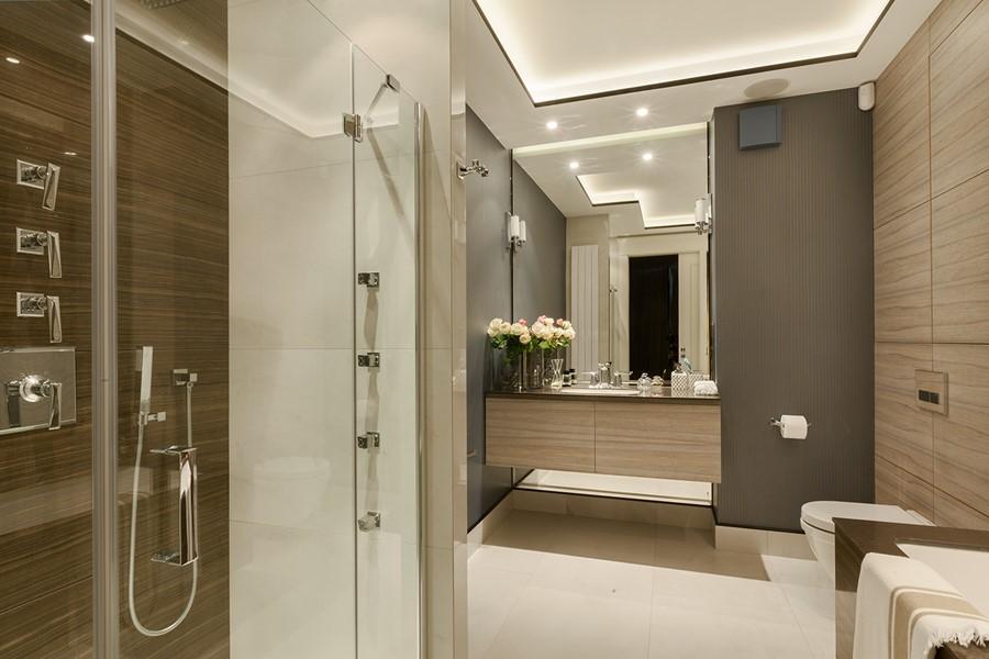 Nowoczesna łazienka W Bieli I Brązie Inspiracja Homesquare