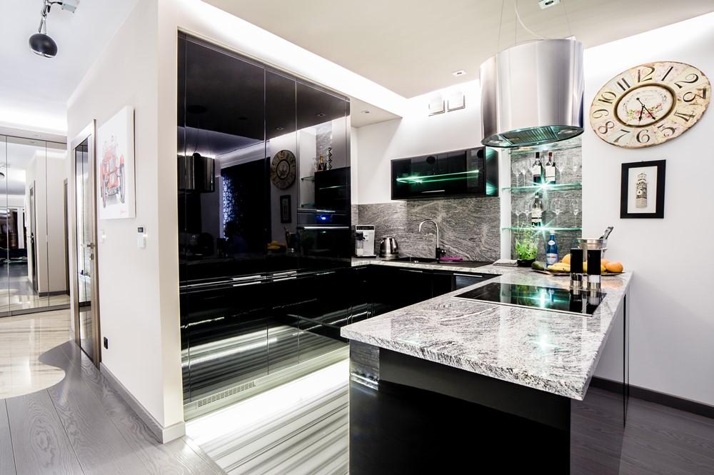 Nowoczesna kuchnia otwarta na salon 9 aranacji kuchni z for Polaczenie kuchni z salonem