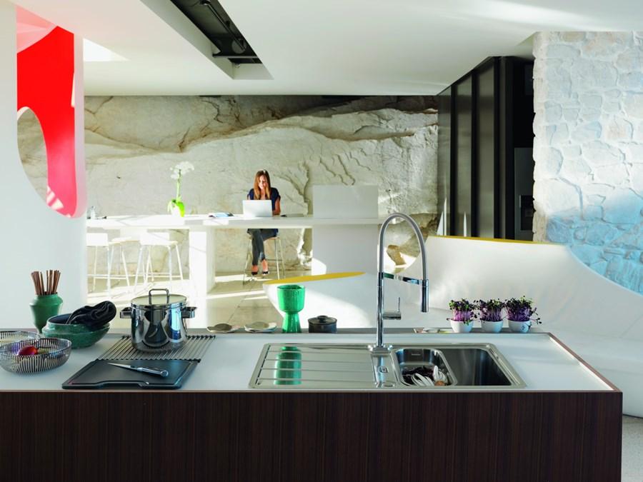 Aranżacja nowoczesnej kuchni z wyspą  Architektura, wnętrza, technologia, de