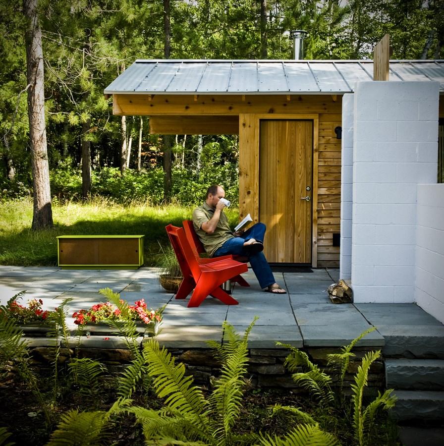 Stylowe siedzisko ogrodowe