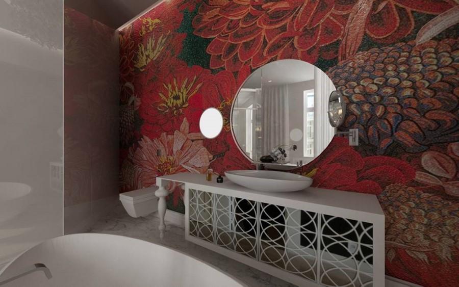 Czerwień w łazience