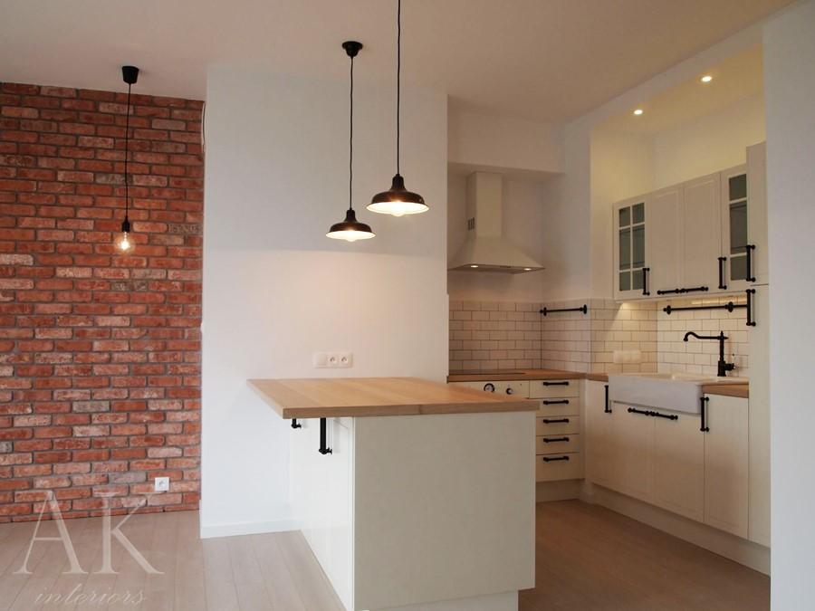 Otwarta kuchnia z barkiem w klasycznym stylu  Architektura, wnętrza, technol   -> Kuchnia Szeroko Otwarta Domowe Wedliny