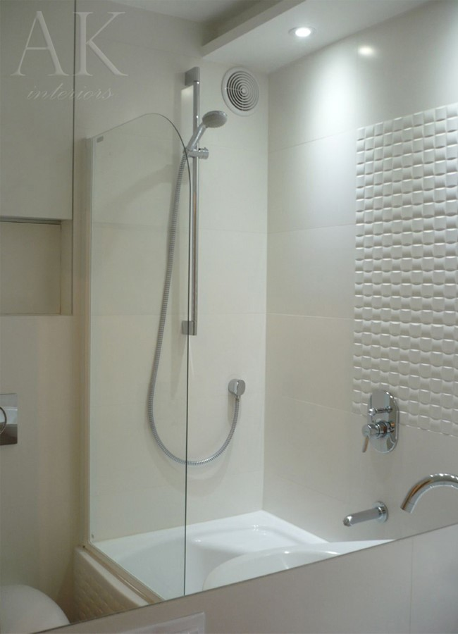 Kafelki 3D w niewielkiej łazience - Architektura, wnętrza, technologia, design - HomeSquare
