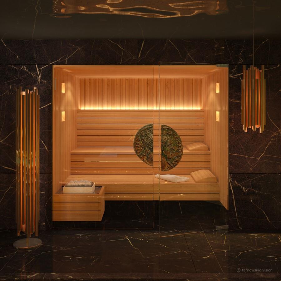 Przeszlona sauna w domowym SPA