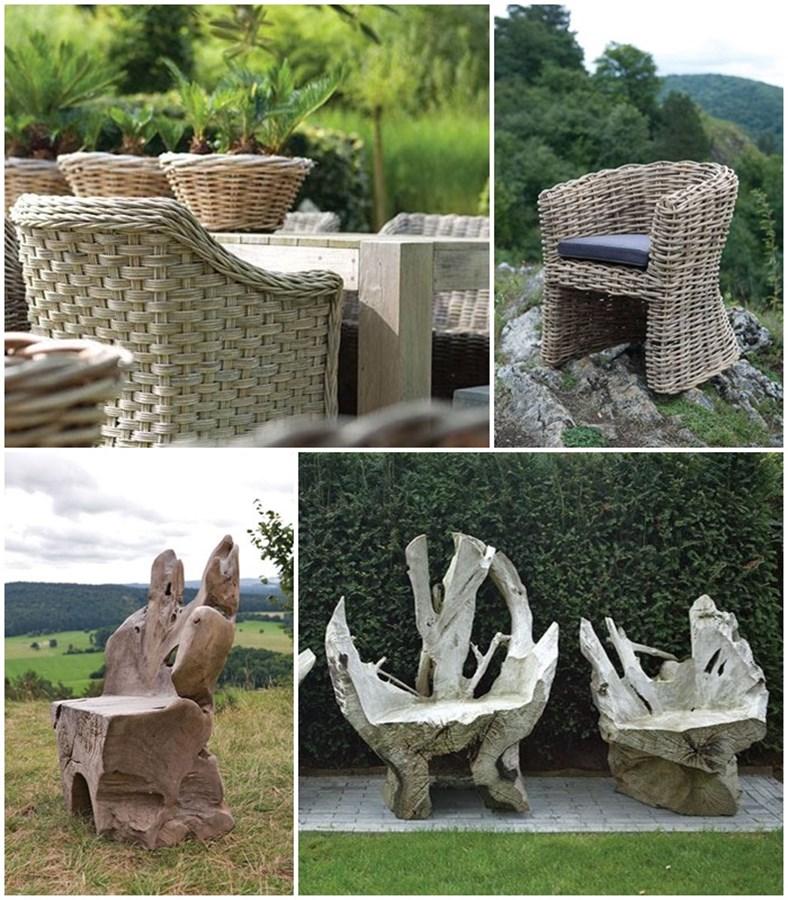 Siedzisko ogrodowe z drewna
