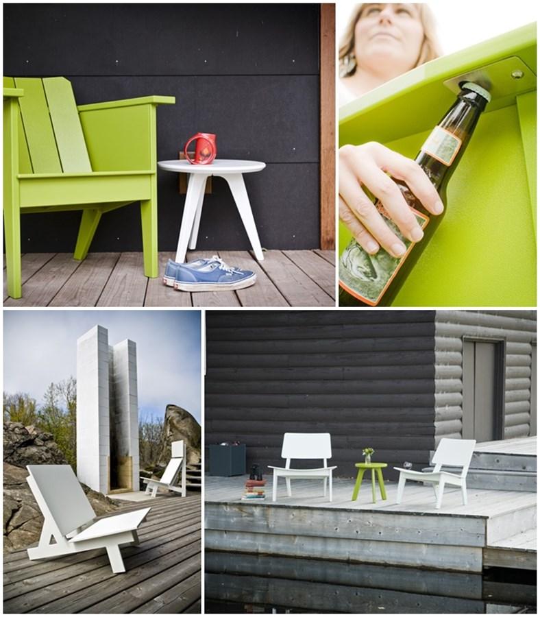 Pomysłowe siedzisko ogrodowe