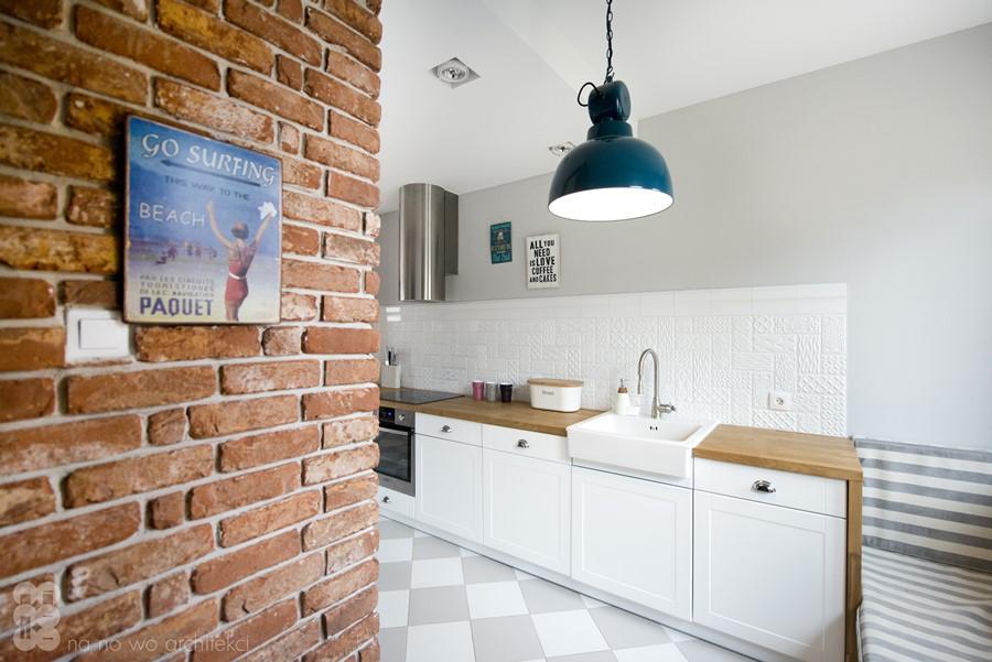 Wystrój eklektycznej kuchni w bieli