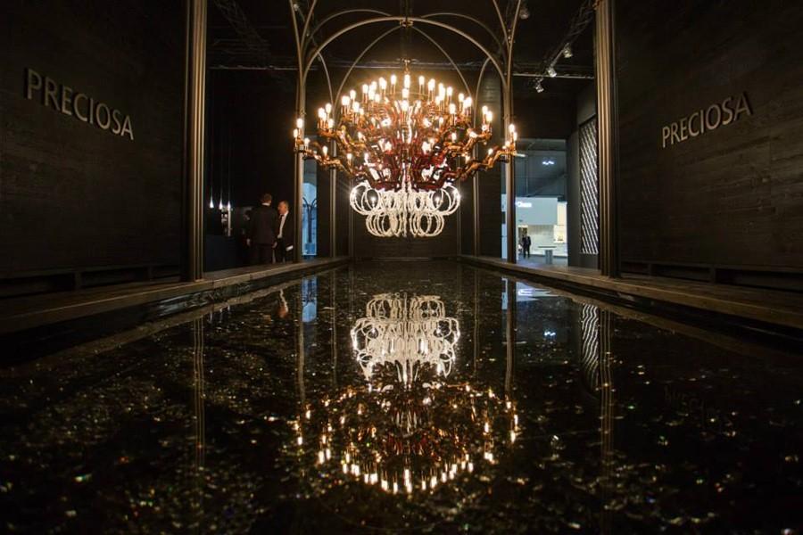 luksusowe lampy prezentowane podczas iSaloni 2015