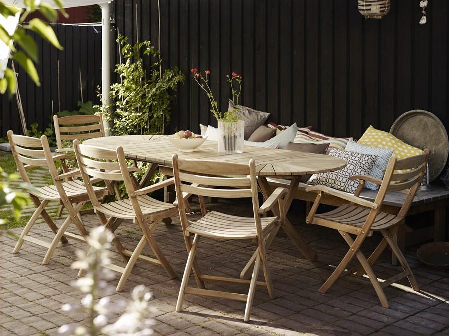 elegancki zestaw mebli ogrodowych