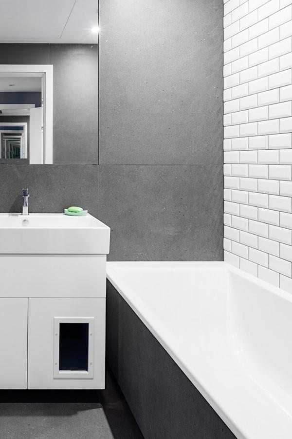 Szaro Biała łazienka W Mieszkaniu Inspiracja Homesquare