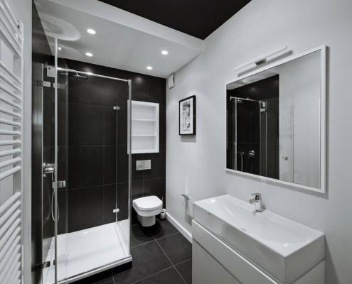 Czarno Biała łazienka W Nowoczesnej Odsłonie Inspiracja