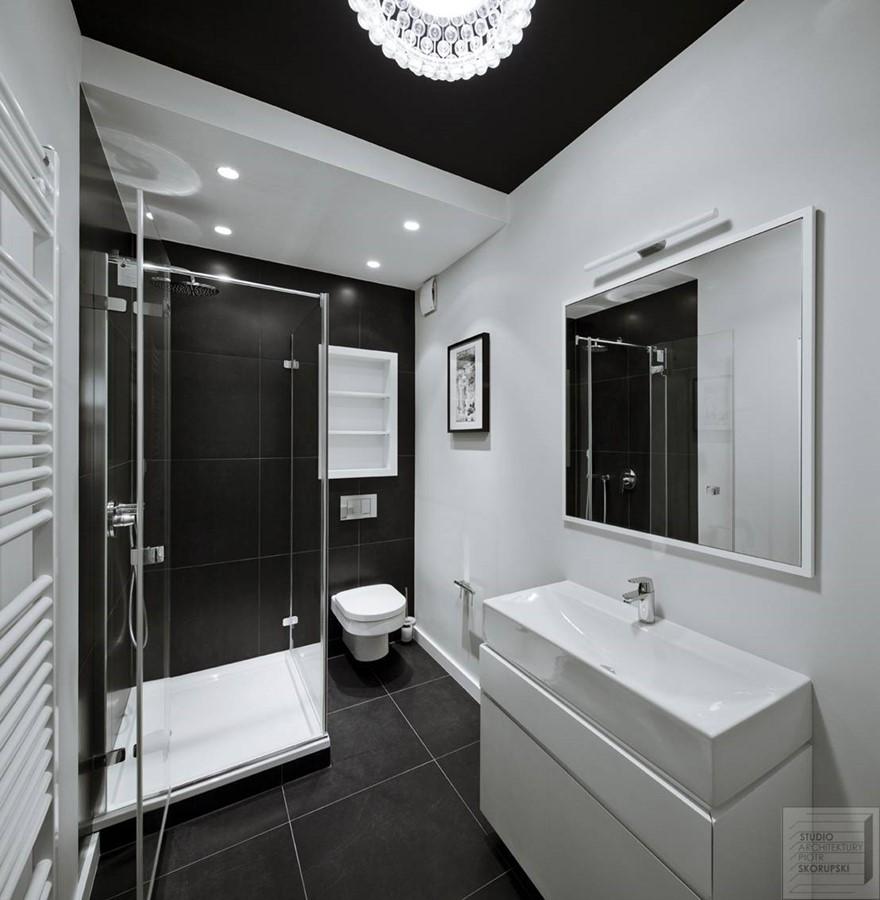 Czarno Biała łazienka W Nowoczesnej Odsłonie Inspiracja Homesquare
